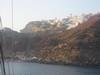 La cittadina di Oia (per me la piu' bella dell'isola) vista dalla barca