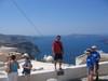 Veduta dalla cittadina di Thira citta capoluogo dell'isola di Santorini